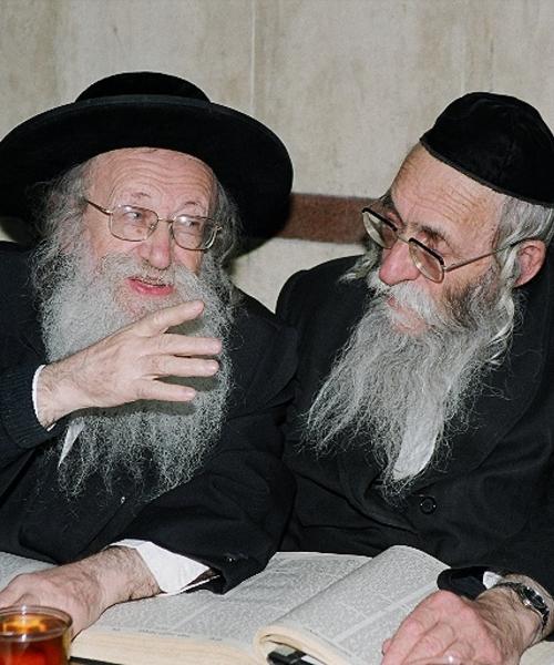 הרב פישל אייזנבך והרב אביש אייזן (1)
